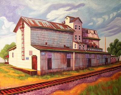 Loveland Feed And Grain Mill Print by Ruth Soller