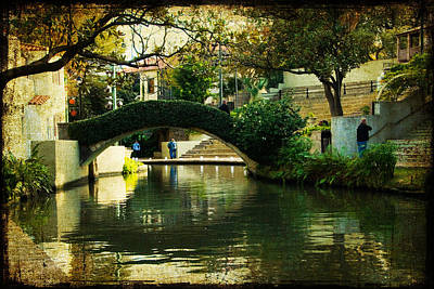 Lovely Day In The Riverwalk Print by Iris Greenwell