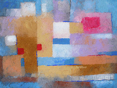 Colorfields Painting - Lovely Day by Lutz Baar