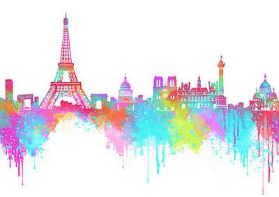Landmarks Digital Art - Lovely Paris  by Prar Kulasekara