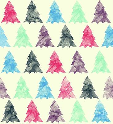 Pine Trees Drawing - Lovely Pattern II by Amir Faysal