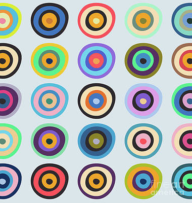 Colorful Abstract Drawing - Lovely Pattern V by Amir Faysal