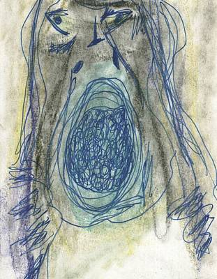Abstract Drawing - Lover Two by David Jacobi