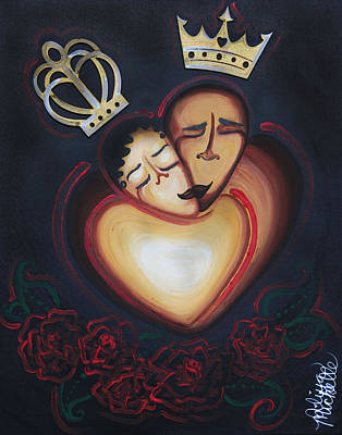 Lovers Embrace Print by Aliya Michelle
