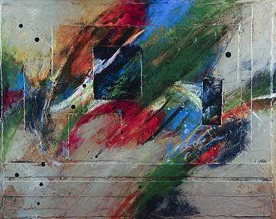 Abstract Movement Mixed Media - Love's Flow by Marie Baehr