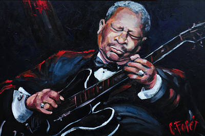 African-american Painting - Lovin Lucille B B King by Carole Foret