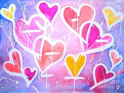 Loving Heart Print by Wonju H