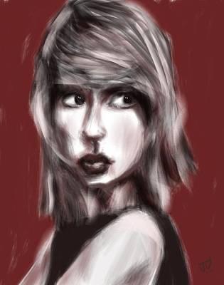 Taylor Swift Digital Art - Loving Him Was Red by Jim Vance