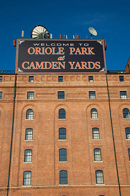 Baltimore Baseball Parks Photograph - Low Angle View Of A Baseball Park by Panoramic Images