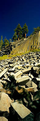 Devils Postpile Photograph - Low Angle View Of Devils Post Pile by Panoramic Images