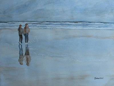 Agate Painting - Low Tide At Agate Beach by Jenny Armitage