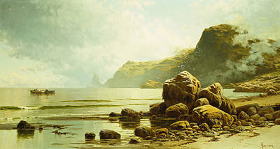 Gull Seagull Painting - Low Tide, Southhead, Grand Manan Island by Alfred Thompson Bricher