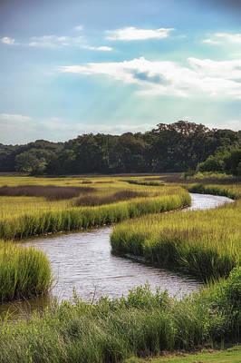 Tidal Photograph - Lowcountry Creek by Drew Castelhano
