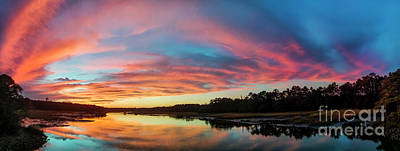 Lowcountry Sunset Charleston Sc Print by Dustin K Ryan