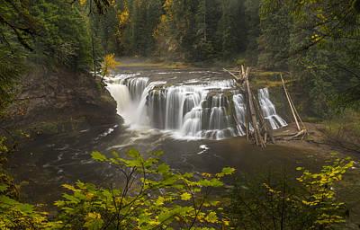 Lower Falls In Autumn Print by Loree Johnson