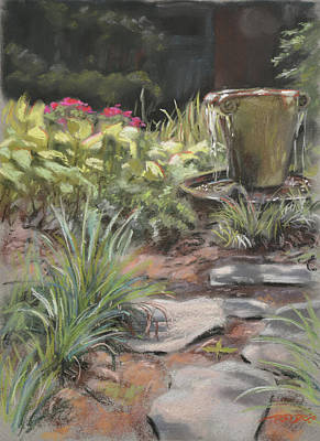 Water Painting - Lower Garden by Christopher Reid