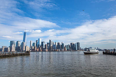 New York City Photograph - Lower Manhattan From Liberty State Park by Erin Cadigan
