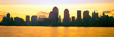 Destruction Photograph - Lower Manhattan Skyline At Sunrise by Panoramic Images