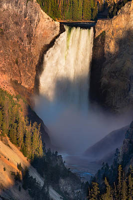 Lower Yellowstone Falls Print by Steve Gadomski