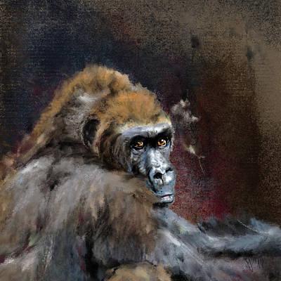 Gorilla Painting - Lowland Gorilla by Mandy Tabatt