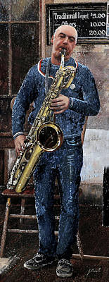 Sax Painting - LP by Guido Borelli