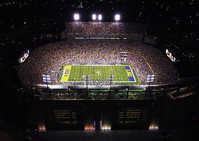 Lsu Aerial View Of Tiger Stadium Print by Louisiana State University