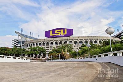 Lsu Tiger Stadium Print by Scott Pellegrin