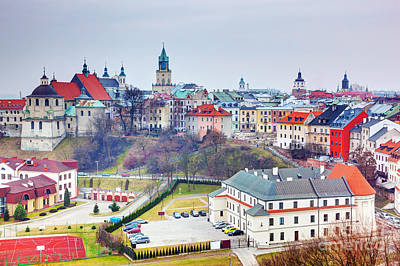 Roofs Photograph - Lublin Old Town Panorama Poland by Michal Bednarek