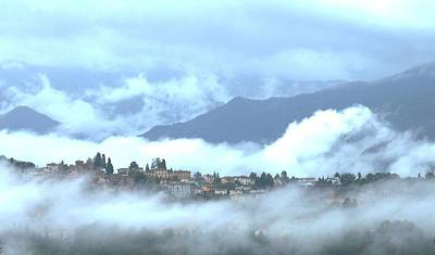 Lucca In The Fog Print by Winston Moran