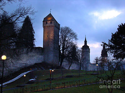 Lucerne Fortress - Painting Print by Al Bourassa