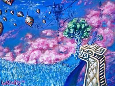 Trippy Painting - Lucid Azure by Luke Horowitz
