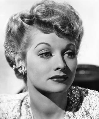 Lucille Ball, Ca. 1940s Print by Everett