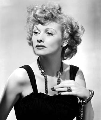 Lucille Ball Publicity Shot, 1940s Print by Everett