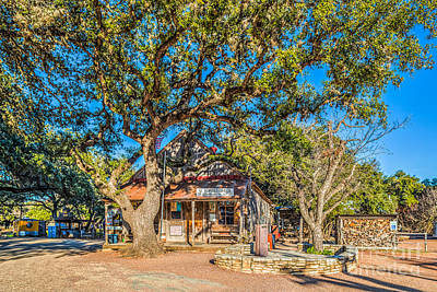 Landmarks Photograph - Luckenbach Post Office Texas by Tod and Cynthia Grubbs