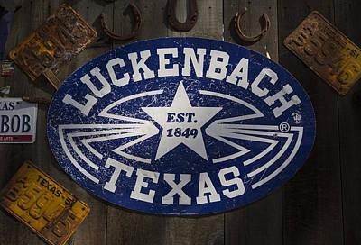 Luckenbach Photograph - Luckenbach Texas by Stephen Stookey