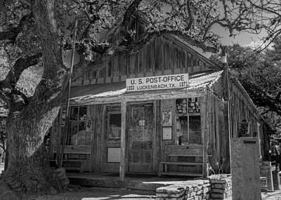 Luckenbach Photograph - Luckenbach Tx Post Office #2 by Stephen Stookey