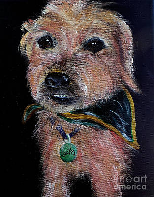 Lucky Dogs Painting - Lucky by Deb Arndt