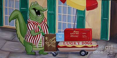 Lucky Dogs Painting - Lucky Dog by Valerie Carpenter
