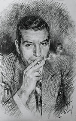 Guy Drawing - Lucky Luciano by Ylli Haruni