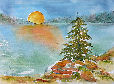 Spruce Painting - Lucky Spruce by Pat Katz