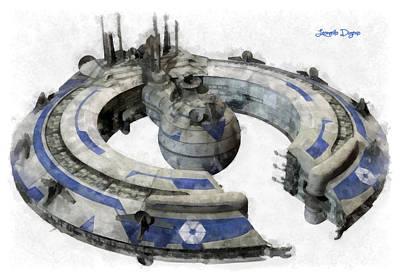 Death Digital Art - Lucrehulk Battleship - Da by Leonardo Digenio