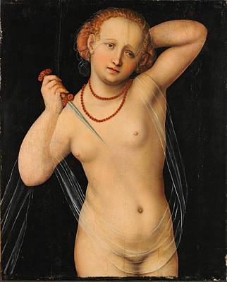 Lucretia Painting - Lucretia 6 by Lucas Cranach the Elder