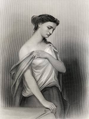 Impression Drawing - Lucretia, Roman Heroine Who Comitted by Vintage Design Pics