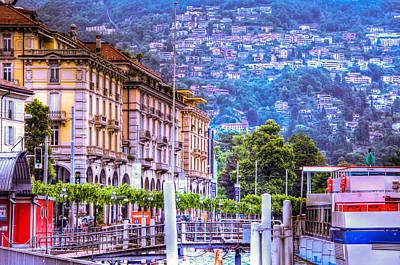 Lugano Switzerland Print by Jon Berghoff