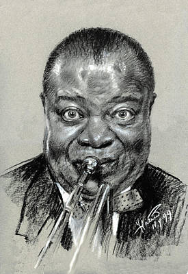 Armstrong Drawing - Lui  Armstrong by Ylli Haruni
