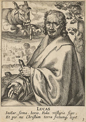 Drawing - Luke From The Four Evangelists by Pieter Feddes van Harlingen