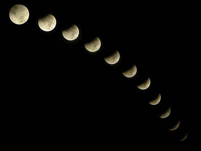 Lunar Eclipse Print by Okan YILMAZ