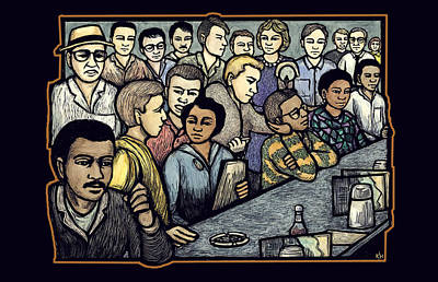 Segregation Mixed Media - Lunch Counter by Ricardo Levins Morales