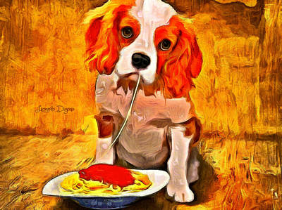 Tomato Painting - Lunch Time - Da by Leonardo Digenio