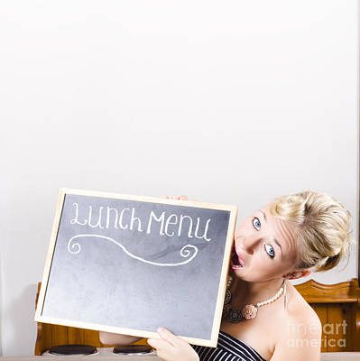 Lunch Time Menu Print by Jorgo Photography - Wall Art Gallery